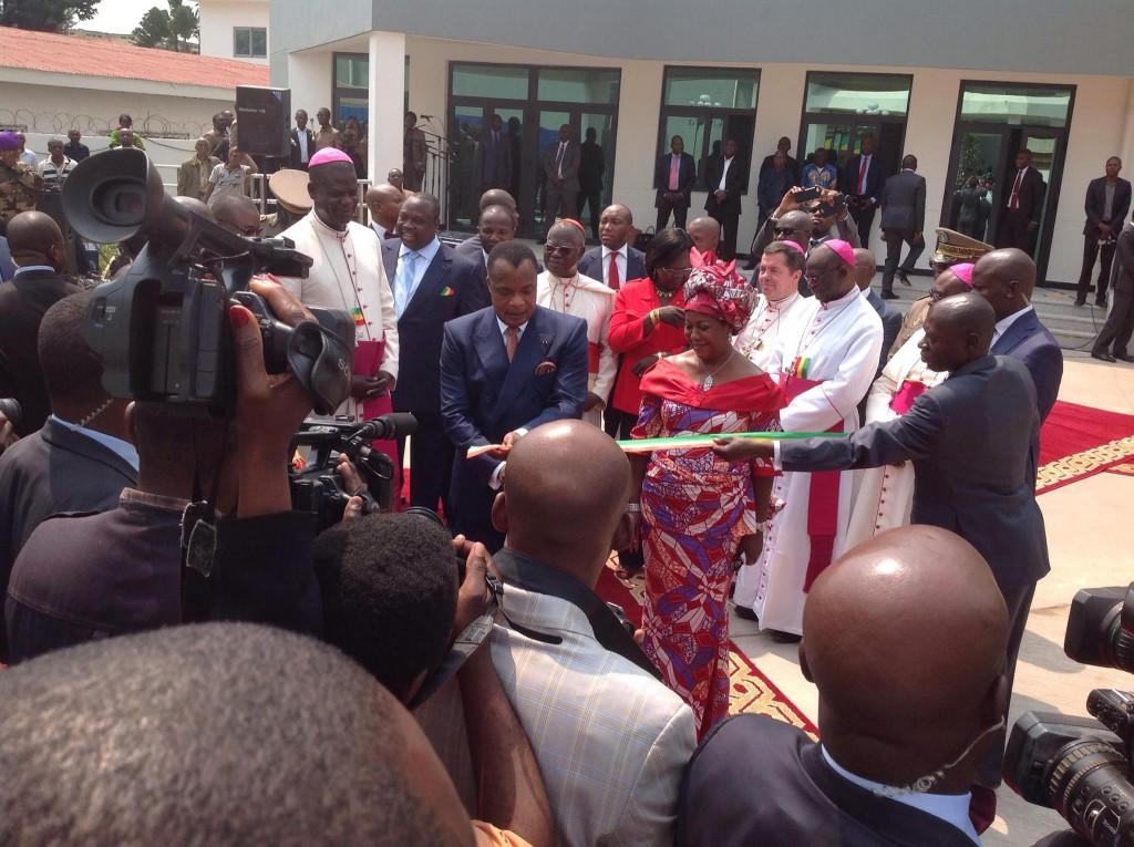 Le siège de l'ACERAC inauguré par Denis Sassou NGuesso