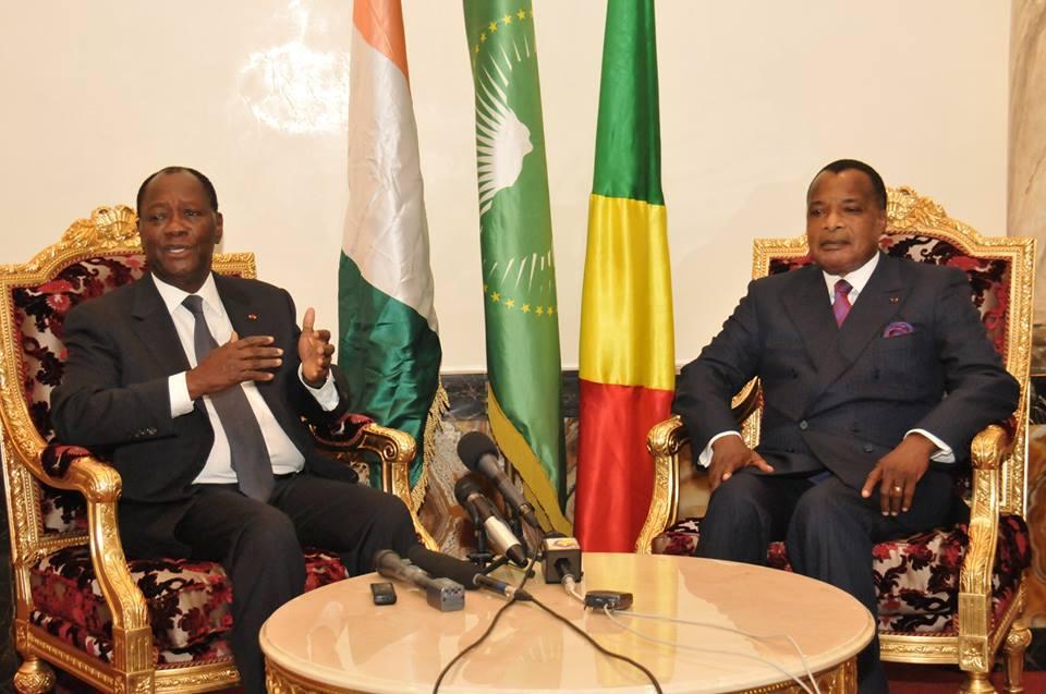 Alassane Ouattara et Denis Sassou N'Guesso