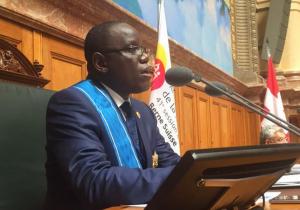 Aubin Minaku, président de l'Assemblée parlementaire francophone