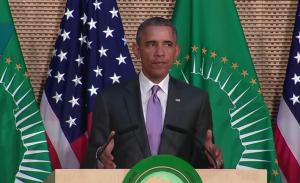 Le président américain Barack Obama lors de son discours à l'Union africaine, le 28 juillet 2015