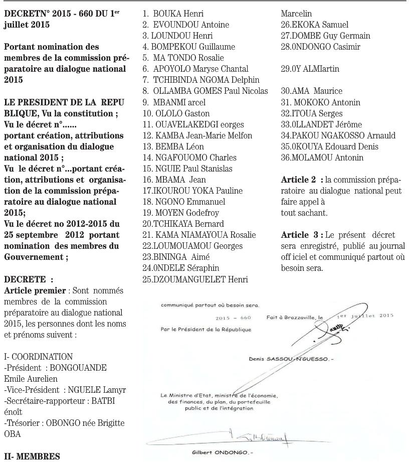 Présidence de la République : publication de trois décrets sur le Dialogue national sans exclusive