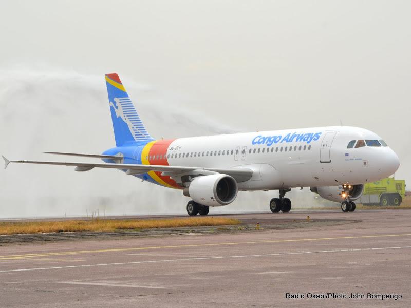 L'Airbus A320 de la compagnie aérienne Congo Airways