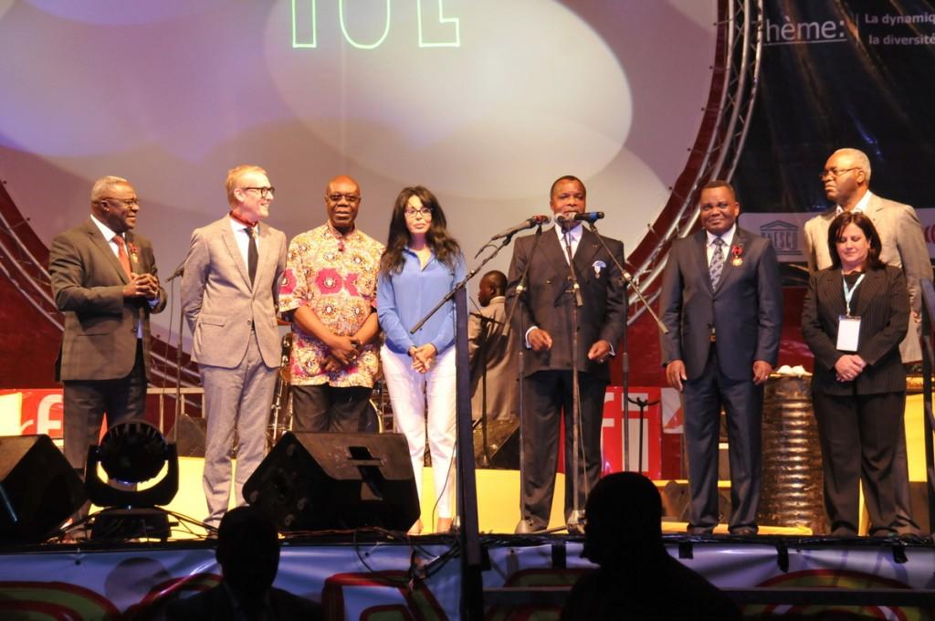 Denis Sassou Nguesso lançant le Fespam 2015