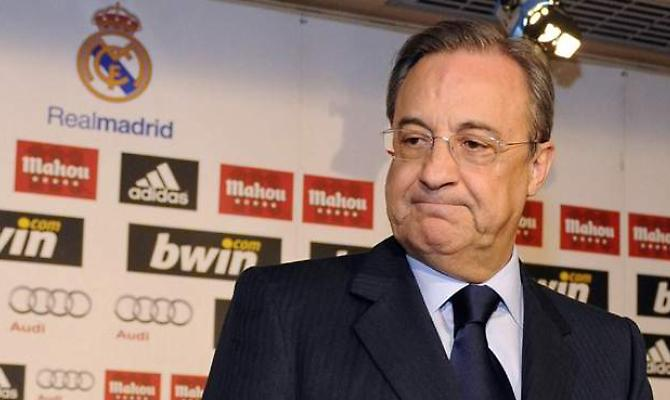 Le président du Real Madrid Florentino Perez