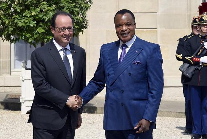 Les Présidents Hollande et Sassou |DR