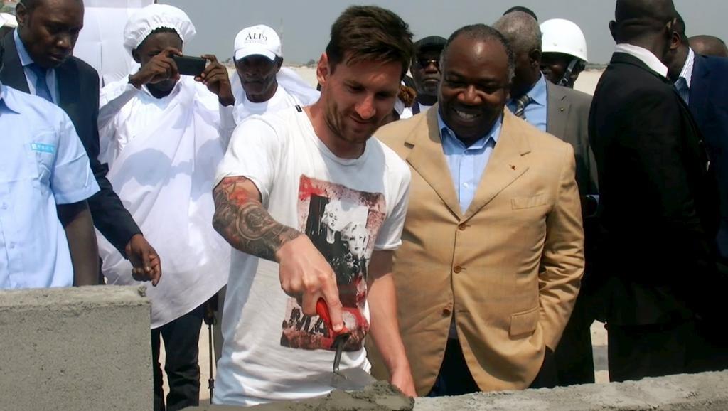 Lionel Messi et Ali Bongo