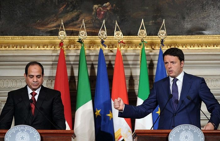 Sissi et Matteo Renzi