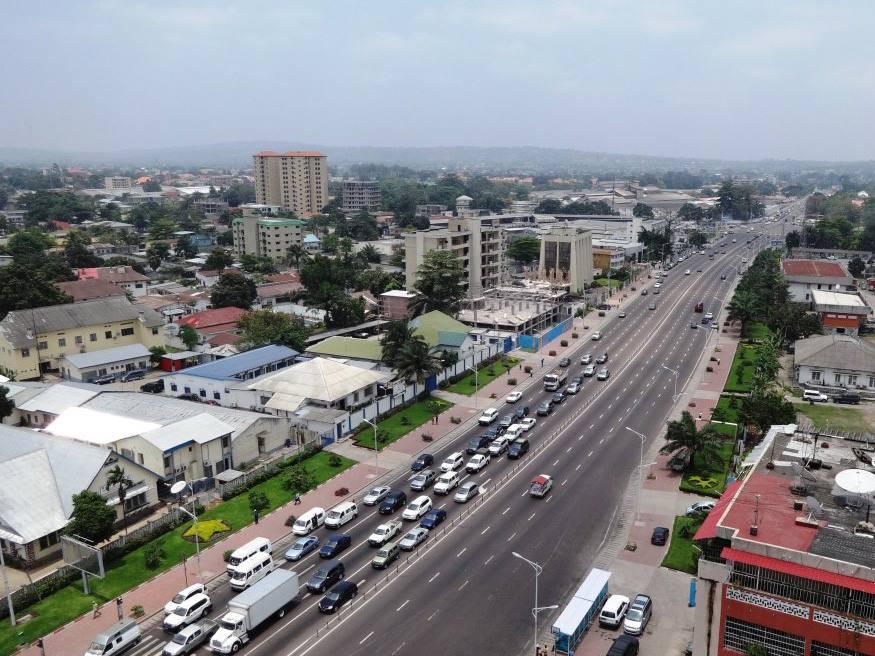 Une vue de la ville de Kinshasa