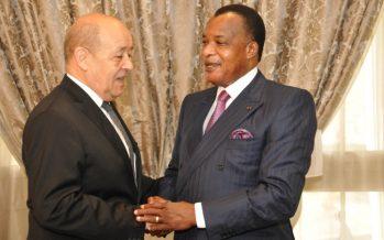 Brazzaville, 1ère étape de la tournée africaine de Jean-Yves Le Drian