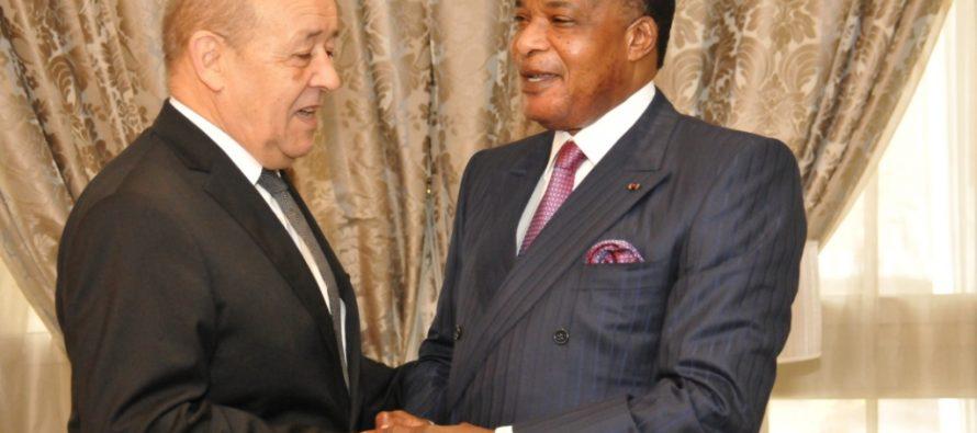 Congo-France : La RCA au centre des entretiens entre le Président Sassou et Jean-Yves Le Drian
