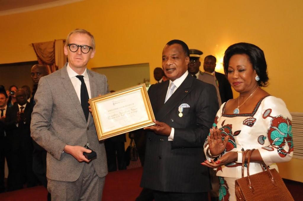 Denis Sassou N'Guesso et Paul Joseph Dujardin