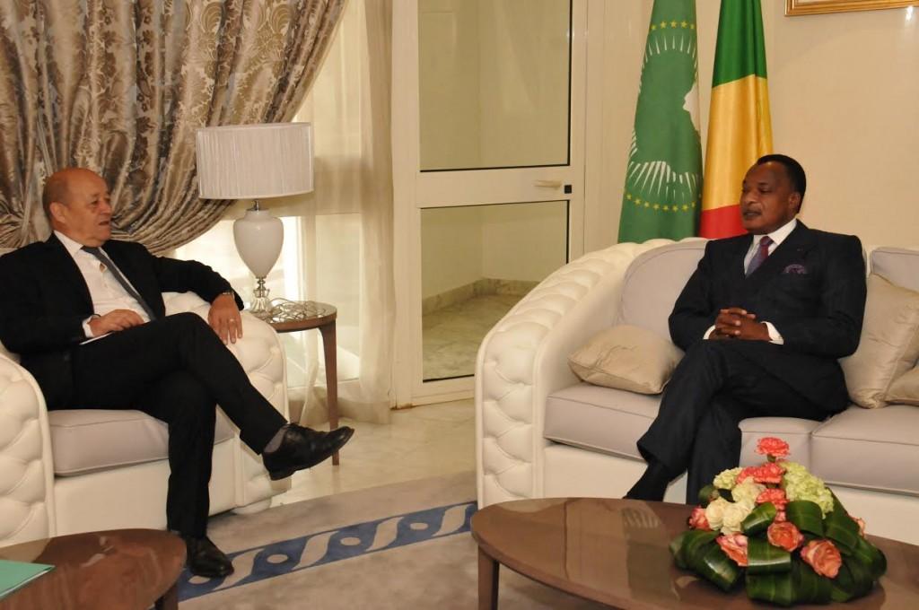 Jean Yves Le Drian chez Denis Sassou NGuesso Vers une normalisation de la situation à Bangui