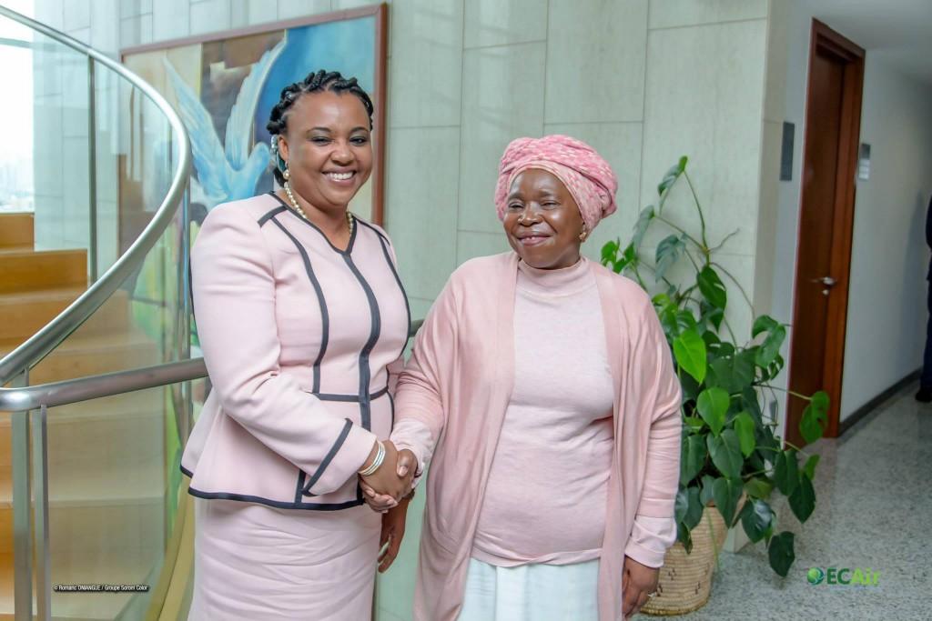 Dr. Nkosazana Dlamini Zuma, présidente de la Commission de l'Union Africaine et Fatima Beyina-Moussa D.G ECAir