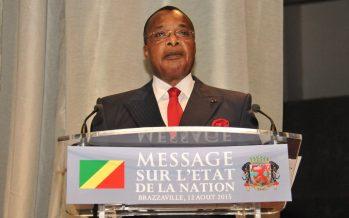 Le Président Sassou N'Guesso, a fait un message sur l'état de la Nation
