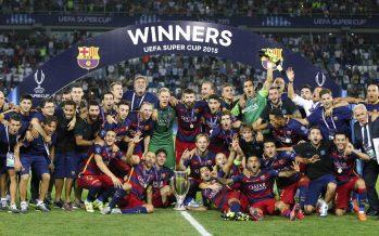 Football: Barcelone arrache la Supercoupe d'Europe en battant Séville