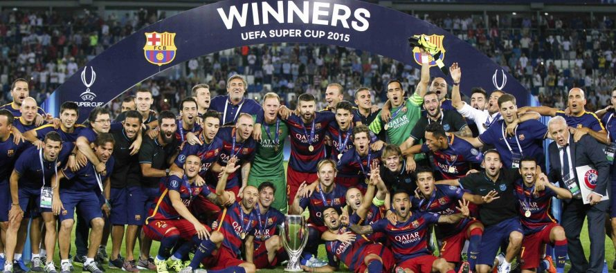 Football: Barcelone arrache la Supercoupe d'Europe en battant Séville
