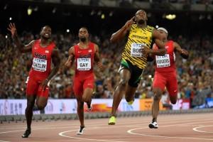Usain Bolt remporte le 100m devant Justin Gatlin