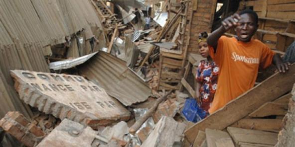 Image d'un précédent séisme à Bukavu en 2008. © AFP