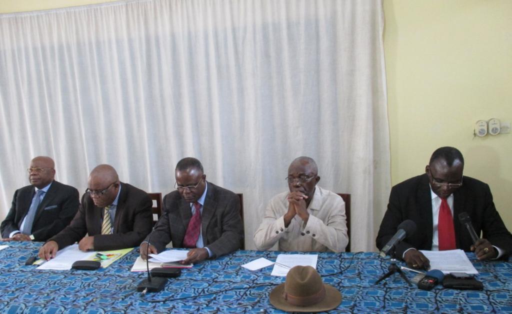Les présidents du Collectif des partis de l'opposition