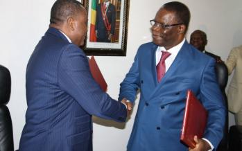 Le nouveau ministre des Affaires étrangères, Jean Claude Gakosso pose ses premiers pas