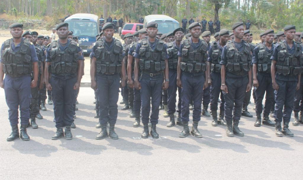 Les éléments de la police commis à l'opération de sécurisation|DR