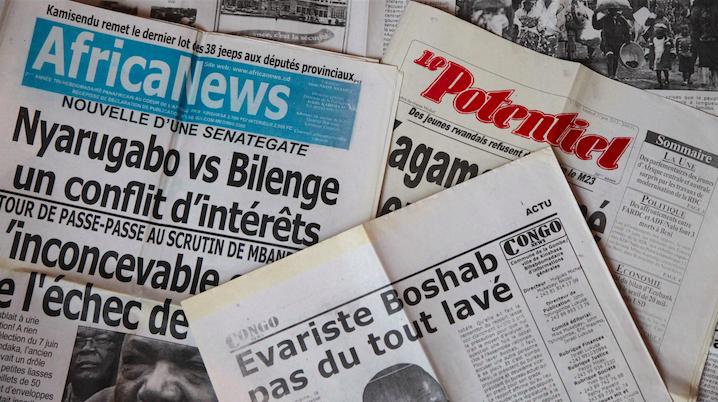 Image d'archive|la une des journaux en RDC
