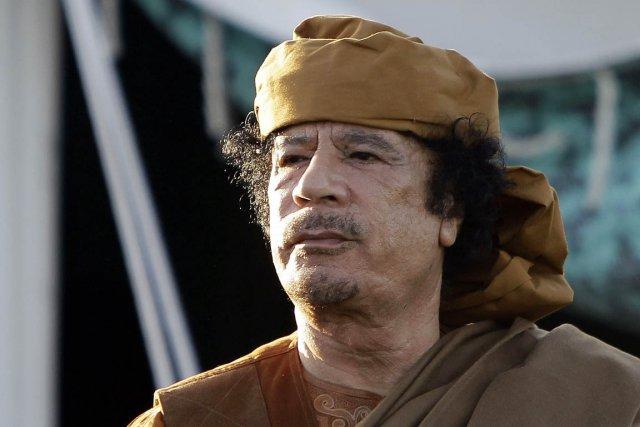 Le feu dirigeant libyen, le colonel Mouammar Kadhafi