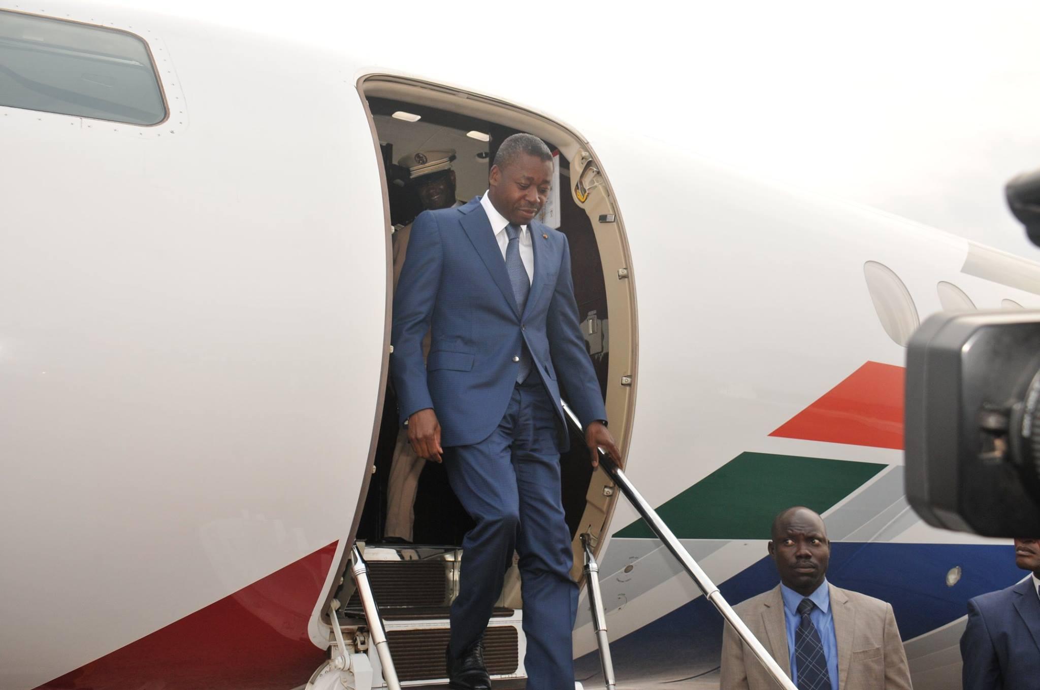 Arrivée du Président togolais, Faure GNASSINGBE, à Brazzaville 03/09/2015