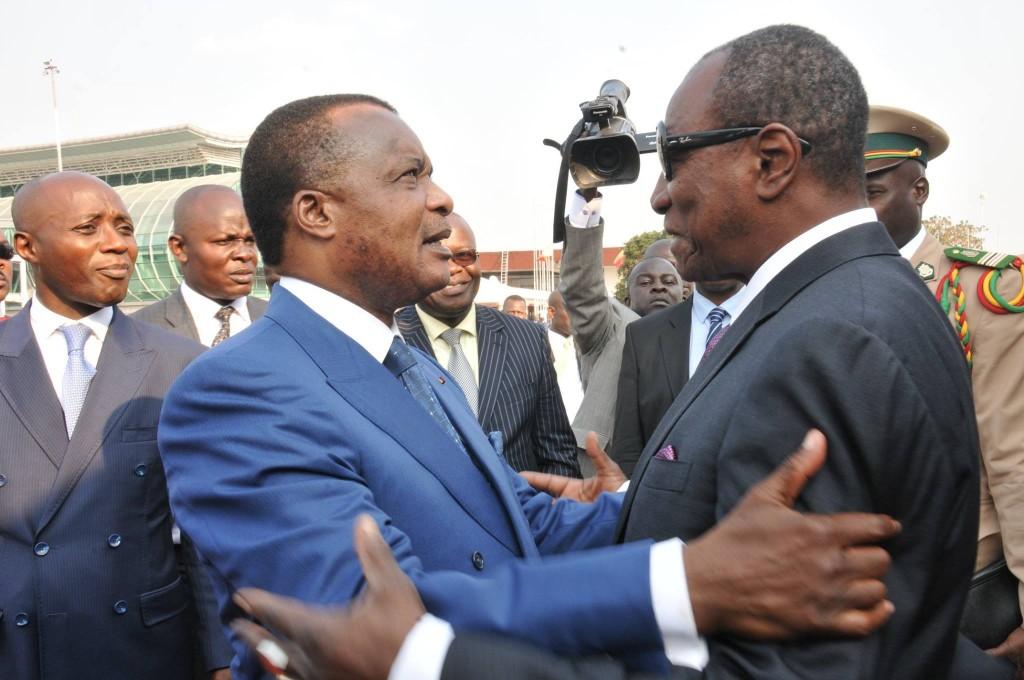 Alpha Condé a été accueilli par son homologue congolais, Denis Sassou N'Guesso.