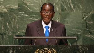 Robert Mugabe lors de son discours à l'ONU, lundi 28 septembre 2015|AFP