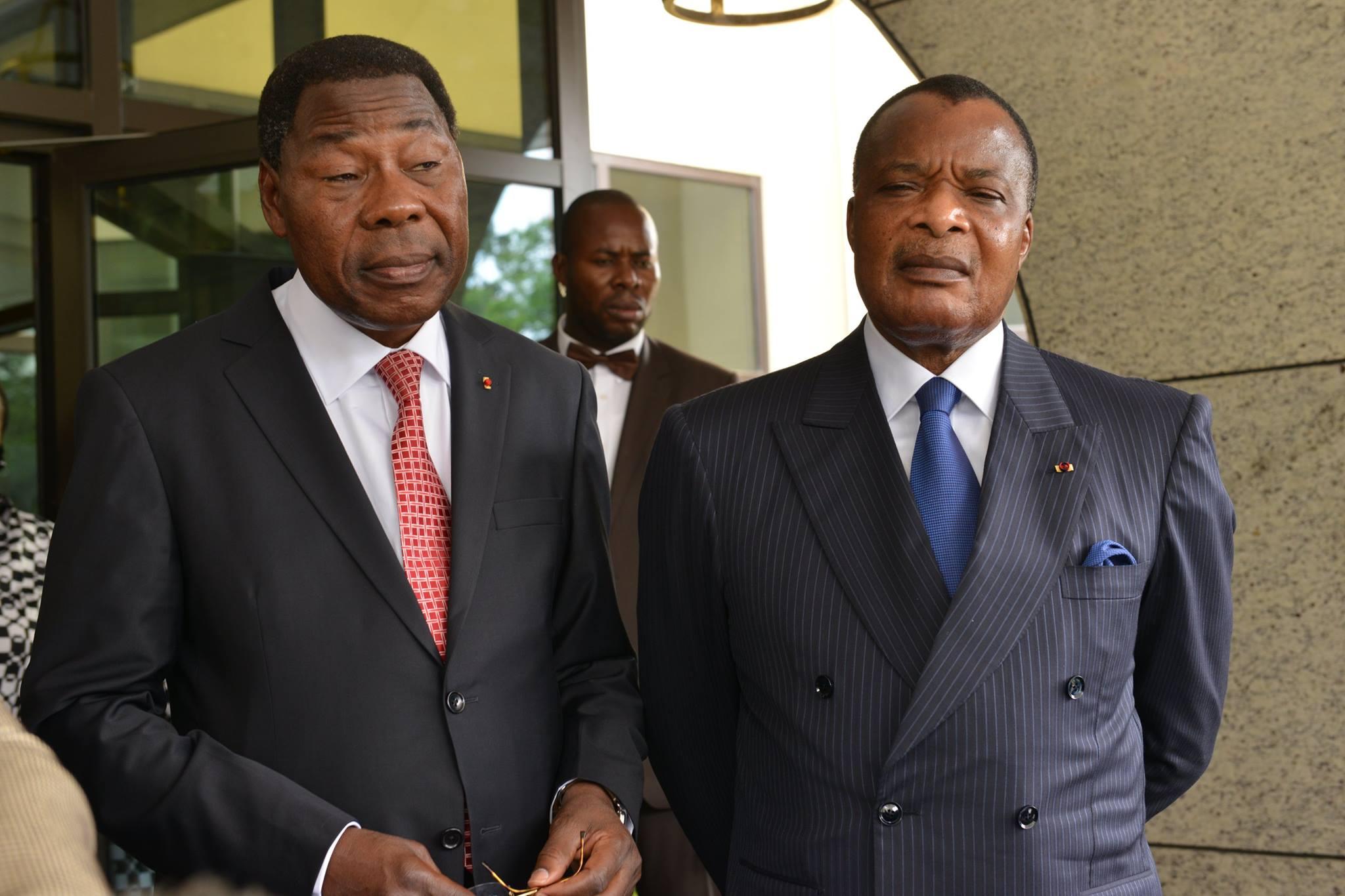 Arrivé à Brazzaville dans la matinée du 21 septembre pour une visite de travail, le chef de l'État béninois, Thomas Boni Yayi, l'un des médiateurs de la crise Burkinabè et son homologue congolais, Denis Sassou N'Guesso, ont organisé un  point de presse en évoquant la crise actuelle qui secoue le Burkina Faso.