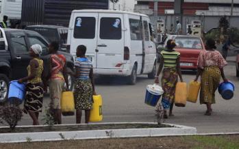 Pénurie d'eau à Kinshasa