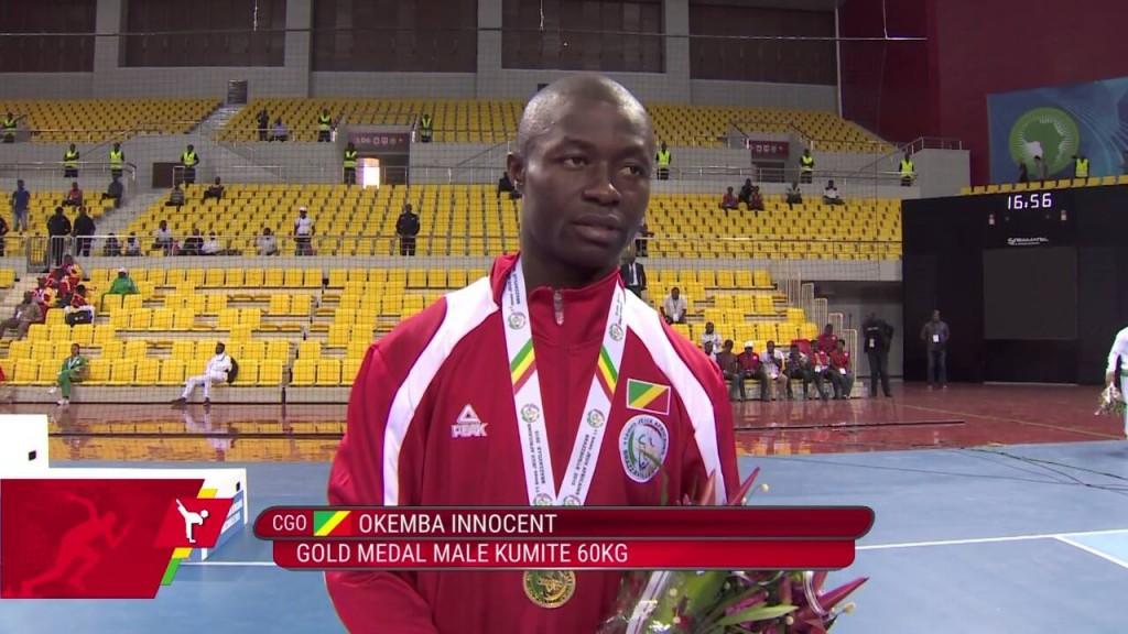 1ere médaille d'or du Congo aux JeuxAfricains au Karaté Innocent Okemba