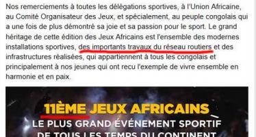 Les Jeux Africains, et, les perles mondiales. Qui écrit pour le président Sassou?