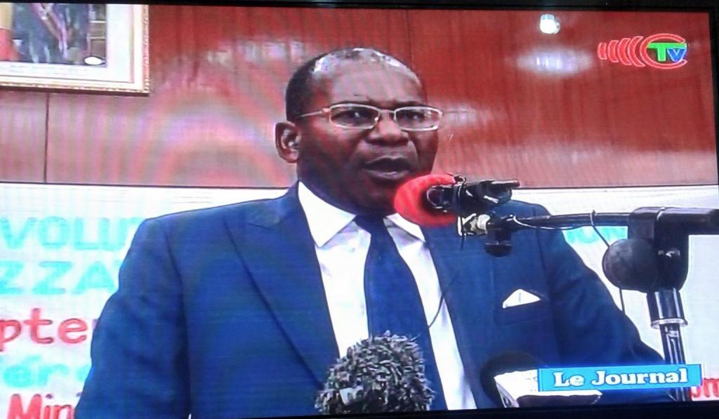 Le ministre des affaires foncières et du domaine publique, M. Pierre Mabiala