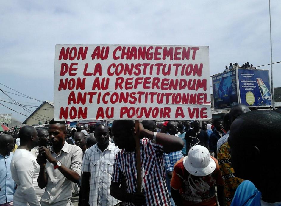 l'opposition sur la place Lumumba de Pointe-Noire