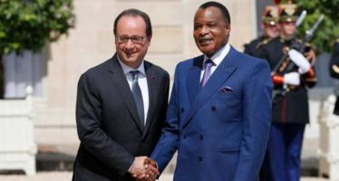 Hollande défend le « droit » de Sassou à organiser le référendum