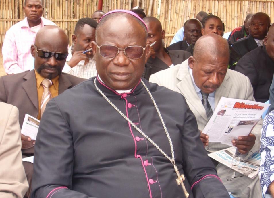 L'archevêque de Brazzaville, Mgr Anatole Milandou