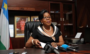 La présidente de transition Catherine Samba-Panza