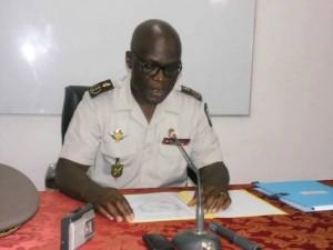Le Chef d'état-major général (CEMG) des Forces Armées Congolaises (FAC), le général de division Guy Blanchard Okoï.