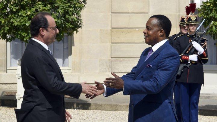 François Hollande et Denis Sassou-Nguesso, mardi 7 juillet 2015, à Paris.|AFP