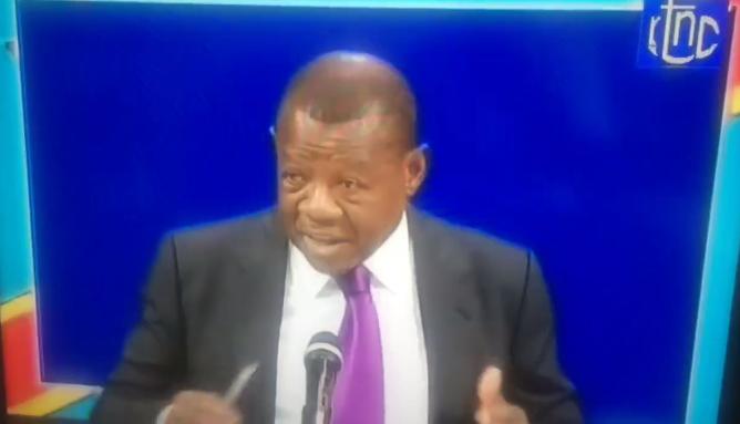 Le ministre de la Communication et Médias de la RDC, Lambert Mende Omalanga