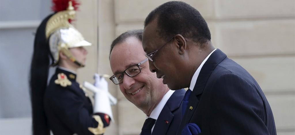 François Hollande et Idriss Déby.