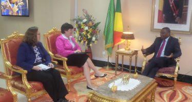 Elles ne parlent pas à la presse, après une audience avec le ministre des affaires étrangères