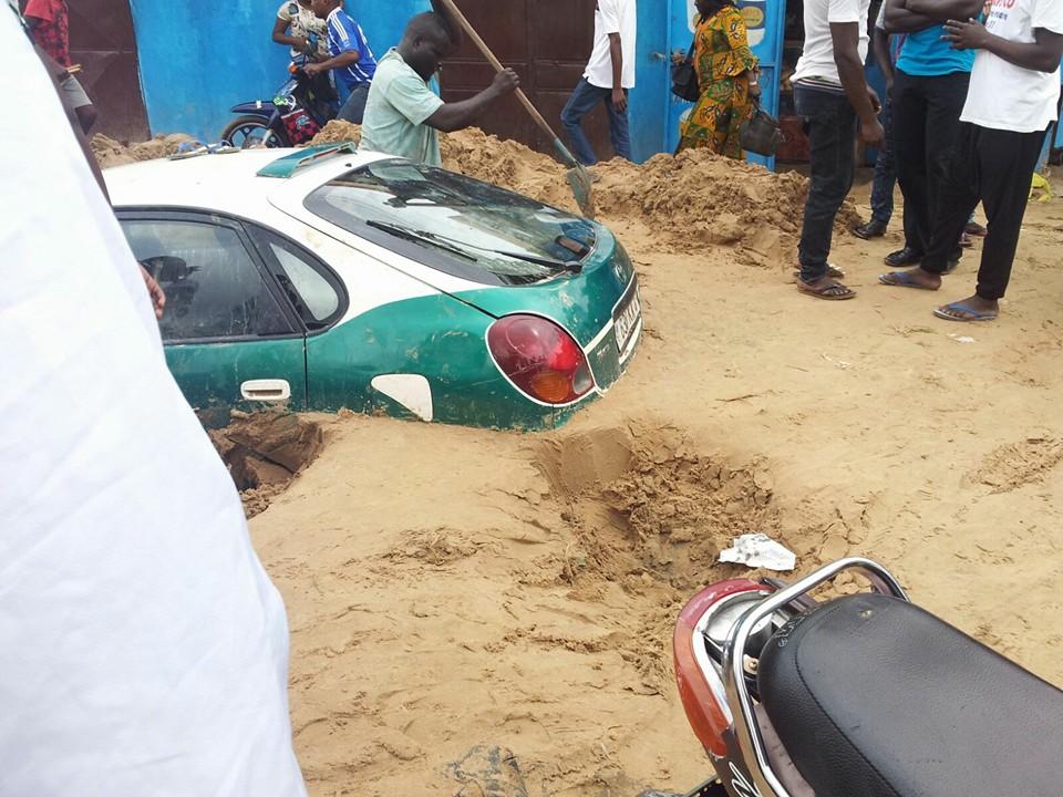 des pluies à Brazzaville