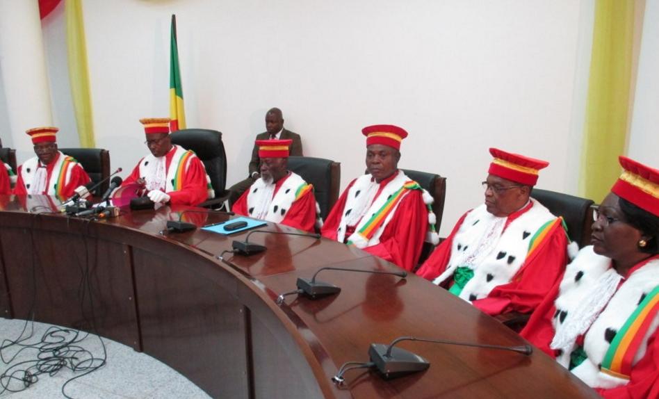 Les membres de la Cour constitutionnelle (Congo)