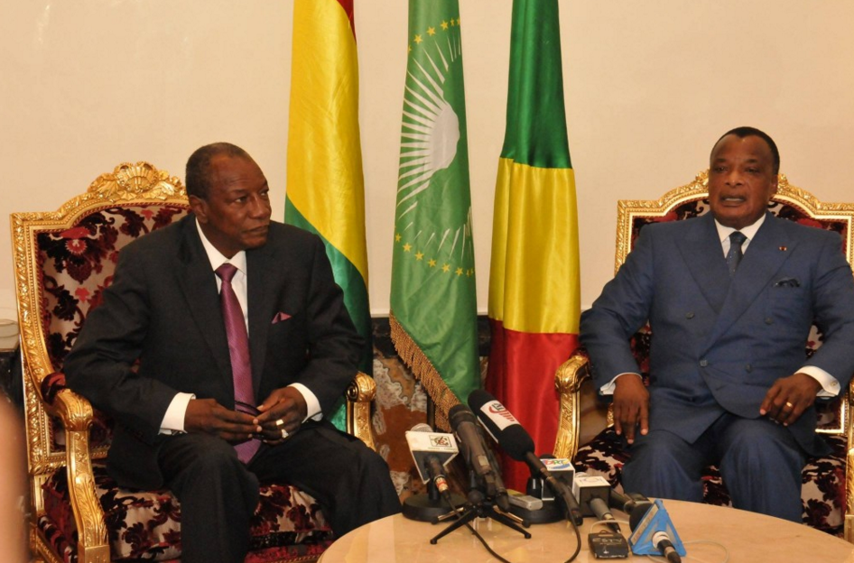 Les Présidents Alpha Condé et Denis Sassou N'Guesso|DR