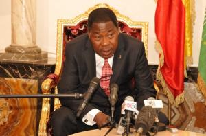 Le président béninois Thomas Boni Yayi