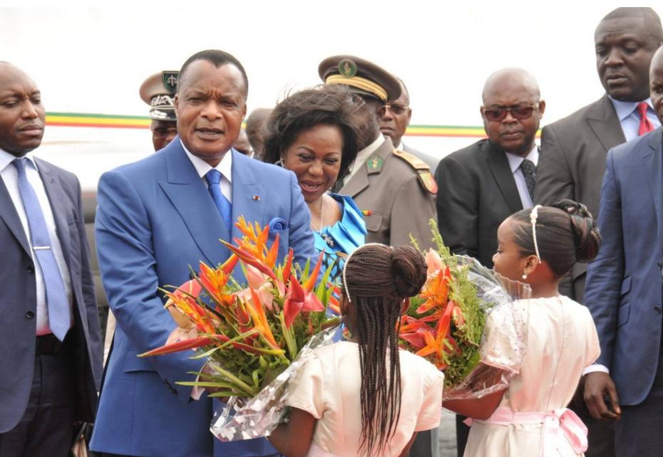 Le président congolais, Denis Sassou N'guesso avec son épouse|Image d'archive