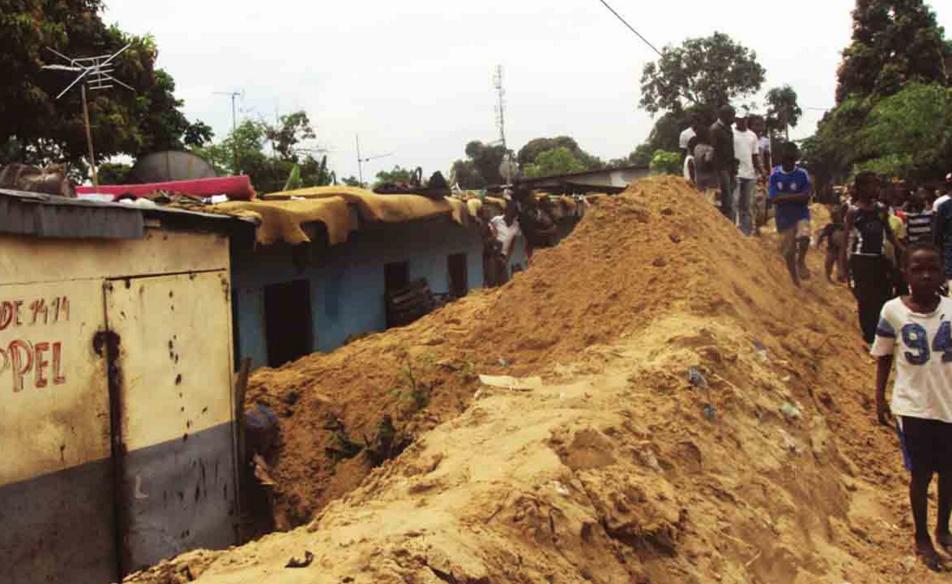 Image d'archive|Les quartiers nord de Brazzaville suite aux inondations